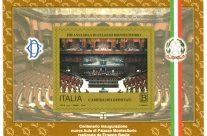 POSTE ITALIANE – 40^ Emissione del 22 Novembre 2018 FOGLIETTO dedicato al centenario dell'inaugurazione dell'Aula di Montecitorio