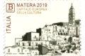 """POSTE ITALIANE  8^ emissione anno 2019  """"francobollo celebrativo Matera Capitale Europea della Cultura"""""""