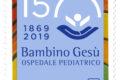 """POSTE ITALIANE  11^ emissione anno 2019  del 19 marzo """"francobollo dedicato all'Ospedale pediatrico Bambino Gesù, nel 150° anniversario della fondazione (emissione congiunta con la Città del Vaticano) """""""