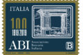 POSTE ITALIANE 22^ emissione anno 2019 del       14 Maggio di un francobollo dedicato all' ABI, nel centenario della costituzione.