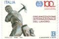 POSTE ITALIANE 27^ emissione anno 2019 del       31 Maggio di un francobollo celebrativo dell'Organizzazione Internazionale del Lavoro, nel centenario dell'istituzione.