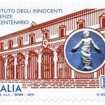 POSTE ITALIANE 53^ emissione  del 22 Ottobre  2019 di un francobollo dedicato all'Istituto degli innocenti, nel VI centenario della fondazione