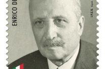 POSTE ITALIANE 47^ emissione  del 01 Ottobre  2019 di un francobollo commemorativo di Enrico De Nicola, nel 60° anniversario della scomparsa.