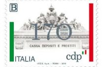 POSTE ITALIANE 61^ emissione  del 18 novembre  2019 di un francobollo celebrativo della Cassa Depositi e Prestiti S.p.A., nel 170° anniversario della fondazione