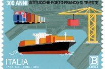 POSTE ITALIANE 70^ emissione  del 12 Dicembre  2019 di un francobollo dedicato al Porto Franco di Trieste, nel III centenario della istituzione