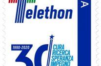 POSTE ITALIANE 7^ emissione  del 28 Febbraio 2020 di un francobollo dedicato alla Fondazione Telethon, nel 30° anniversario di attività.