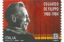 POSTE ITALIANE 10^ emissione  del 24 Maggio 2020 di un francobollo dedicato  a Eduardo de Filippo, nel 120° anniversario della nascita