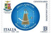 POSTE ITALIANE 8^ emissione  del 8 Maggio 2020 di un francobollo  celebrativo della Madonna di Loreto, nel centenario della proclamazione a patrona degli aviatori