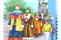 """POSTE ITALIANE 14^ emissione  del 05 giugno 2020 di un francobollo ordinario appartenente alla serie tematica """" le Festività"""" dedicato ai Sampaoloni di San Cataldo"""