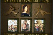 POSTE ITALIANE 21-22-23-24^ emissione  del 20 luglio 2020 di un foglietto con n.4 francobolli dedicati a Raffaello Sanzio, nel V° centenario della scomparsa