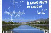"""POSTE ITALIANE 26^ emissione  del 03 Agosto 2020 di un francobollo dedicato al nuovo ponte di Genova – """"Genova San Giorgio"""", viadotto sul torrente Polcevera"""