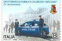 POSTE ITALIANE 48^  emissione  del 28 Settembre 2020  di un francobollo dedicato all'Ispettorato di Pubblica Sicurezza Vaticano nel 75° anniversario dell'istituzione