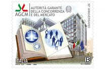 POSTE ITALIANE 54^  emissione  del 10 ottobre 2020  di un francobollo celebrativo nel 30° anniversario dell'Autorità Garante della Concorrenza e del Mercato