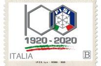 POSTE ITALIANE 52^  emissione  del 06 ottobre 2020  di un francobollo celebrativo della Federazione Italiana Sport Invernali (FISI), nel centenario della fondazione