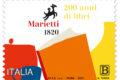 POSTE ITALIANE 60^ e 61^ emissione del 23 ottobre 2020 di due francobolli dedicati alla Casa Editrice Marietti 1820, nel bicentenario della fondazione, e alla Casa Editrice Libraria Ulrico Hoepli S.p.A, nel 150° anniversario della fondazione