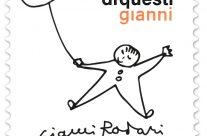 POSTE ITALIANE 62^  emissione  del 23 ottobre 2020  di un francobollo commemorativo di Gianni Rodari, nel centenario della nascita.