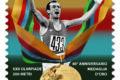 POSTE ITALIANE 70^  emissione  del 09  novembre 2020  di un francobollo dedicato a Pietro Mennea, nel 40° anniversario della medaglia d'oro alle Olimpiadi di Mosca