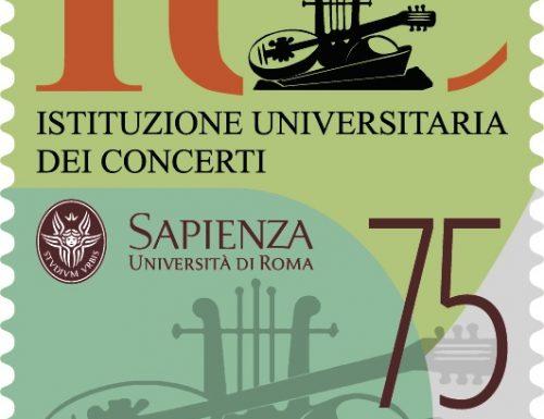 POSTE ITALIANE 80^  EMISSIONE  DEL 20  NOVEMBRE 2020  DI UN FRANCOBOLLO celebrativo della Istituzione Universitaria dei Concerti, nel 75° anniversario della fondazione