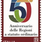 POSTE ITALIANE 75^  EMISSIONE  DEL 19  NOVEMBRE 2020  DI UN FRANCOBOLLO celebrativo delle Regioni a statuto ordinario, nel 50° anniversario dell'istituzione