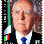 POSTE ITALIANE 92^ EMISSIONE DEL 09 DICEMBRE 2020 DI UN FRANCOBOLLO commemorativo di Carlo Azeglio Ciampi, nel centenario della nascita