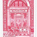 POSTE ITALIANE 89^ EMISSIONE DEL 03 DICEMBRE 2020 DI un FRANCOBOLLo dedicato al Caffè Florian, nel 300° anniversario di attività