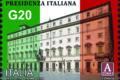 POSTE ITALIANE 85^  EMISSIONE  DEL 01  diceMBRE 2020  DI UN FRANCOBOLLO celebrativo della Presidenza italiana del G20