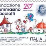 POSTE ITALIANE 90^ EMISSIONE DEL 04 DICEMBRE 2020 DI UN FRANCOBOLLO dedicato alla Fondazione Tommasino Bacciotti Onlus, nel 20° anniversario dell'istituzione