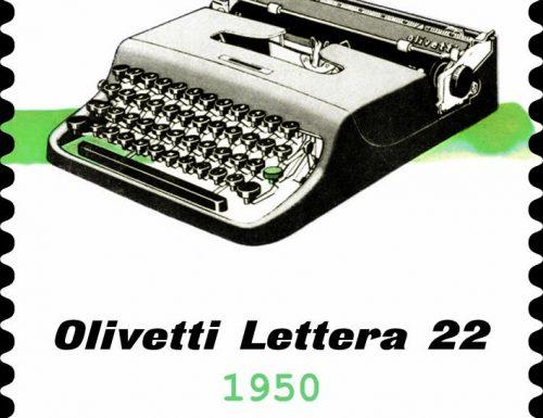 POSTE ITALIANE 94^ e 95^ EMISSIONE DEL 15 dicembre 2020 di due francobolli dedicati alla macchina per scrivere portatile Olivetti Lettera 22, nel 70° anniversario di produzione e ad Adriano Olivetti, nel 60° anniversario della scomparsa
