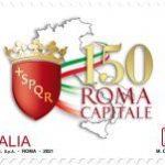 POSTE ITALIANE 3^ EMISSIONE DEL 03 febbrAIO 2021  DI UN FRANCOBOLLO dedicato alla proclamazione di Roma Capitale d'Italia, nel 150°anniversario