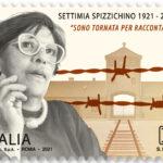 POSTE ITALIANE 11^ EMISSIONE DEL 13 APRILE 2021 DI UN FRANCOBOLLO dedicato a Settimia Spizzichino, nel centenario della nascita