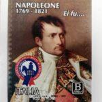 POSTE ITALIANE 17^  EMISSIONE DEL 05 MAGGIO 2021 DI UN FRANCOBOLLO commemorativo di Napoleone, nel bicentenario della scomparsa