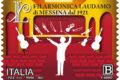 M.I.S.E. 33^ EMISSIONE DI un francobollo ordinario dedicato alla filarmonica laudamo di messina, nel centenario della fondazione