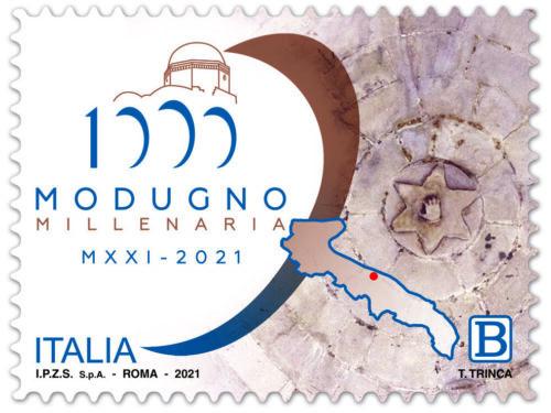 M.I.S.E. 47^ EMISSIONE di n.1 francobollo celebrativo di MODUGNO, nel millenario della fondazione.
