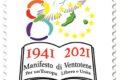 M.I.S.E. 58^ EMISSIONE di un francobollo celebrativo del Manifesto di Ventotene, nel'80° anniversario della stesura