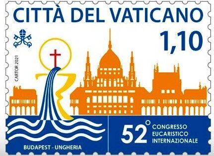 POSTE VATICANE 12^ EMISSIONE DEL 08 settembre 2021, di n. 2 francobolli  dedicati al 52° Congresso Eucaristico Internazionale
