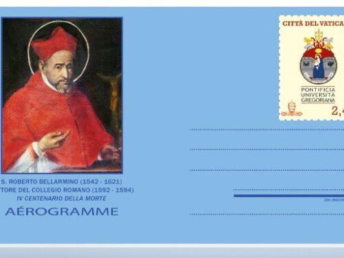 POSTE VATICANE 17^ EMISSIONE del 08 settembre 2021, di n.1 AEROGRAMMA dedicato al IV Centenario della morte di San Roberto BELLARMINO
