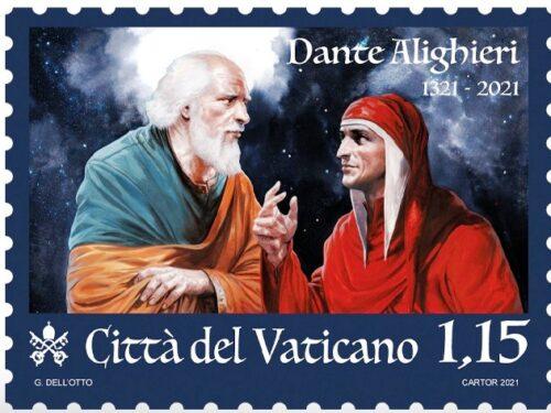 POSTE VATICANE 14^ EMISSIONE DEL 08 settembre 2021, di n.1 francobollo celebrativo del VII centenario della morte di DANTE ALIGHIERI