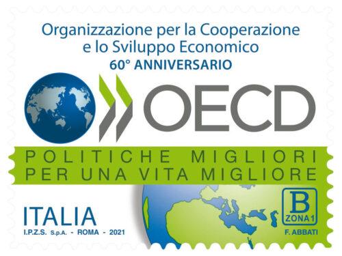 M.I.S.E. 71^ EMISSIONE di un francobollo celebrativo del 60° anniversario dell'entrata in vigore del trattato istitutivo dell'Organizzazione per la Cooperazione e lo Sviluppo Economico