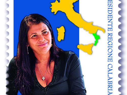 """M.I.S.E. 76^ EMISSIONE di un francobollo ordinario appartenente alla serie tematica """" il Senso Civico"""" dedicato a Jole Santelli"""