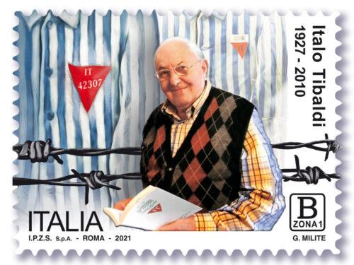 """M.I.S.E. 75^ EMISSIONE di un francobollo ordinario  appartenente alla serie tematica """"il Senso Civico """" dedicato a  Italo TIBALDI"""