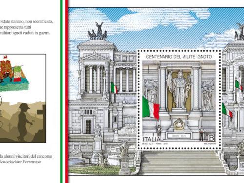 M.I.S.E. 77^ EMISSIONE di un francobollo celebrativo del centenario del Milite Ignoto
